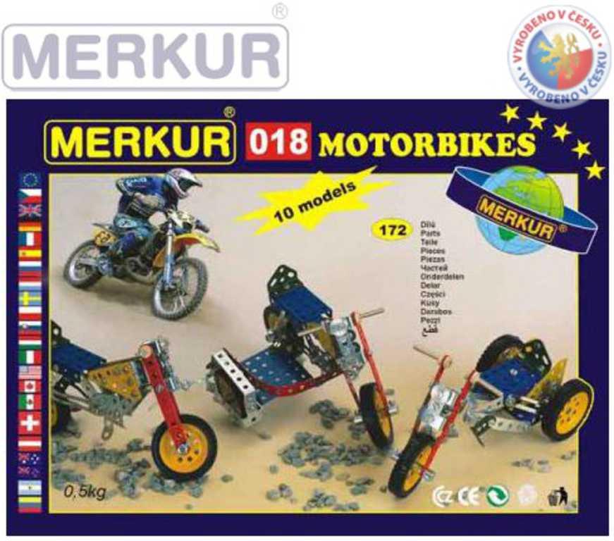 MERKUR 018 Motocykly * KOVOVÁ STAVEBNICE *