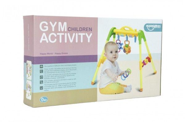 Hrazda pro děti s chrastítky v krabici 51x29x9cm 0m+