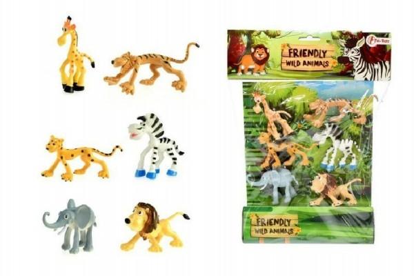 Veselá zvířátka safari ZOO 6ks v sáčku 26x34x4cm