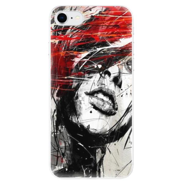 Odolné silikonové pouzdro iSaprio - Sketch Face - iPhone SE 2020