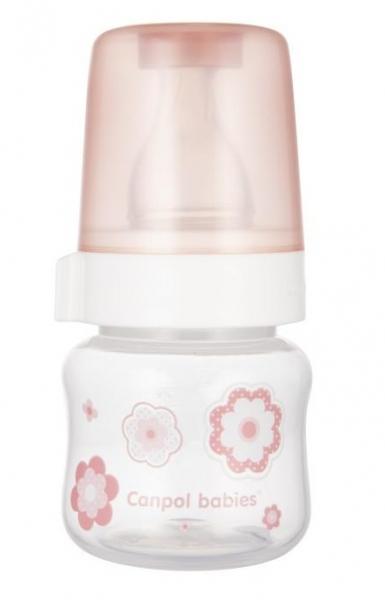 Canpol babies lahvička se širokým hrdlem New born Baby, 60ml - růžová