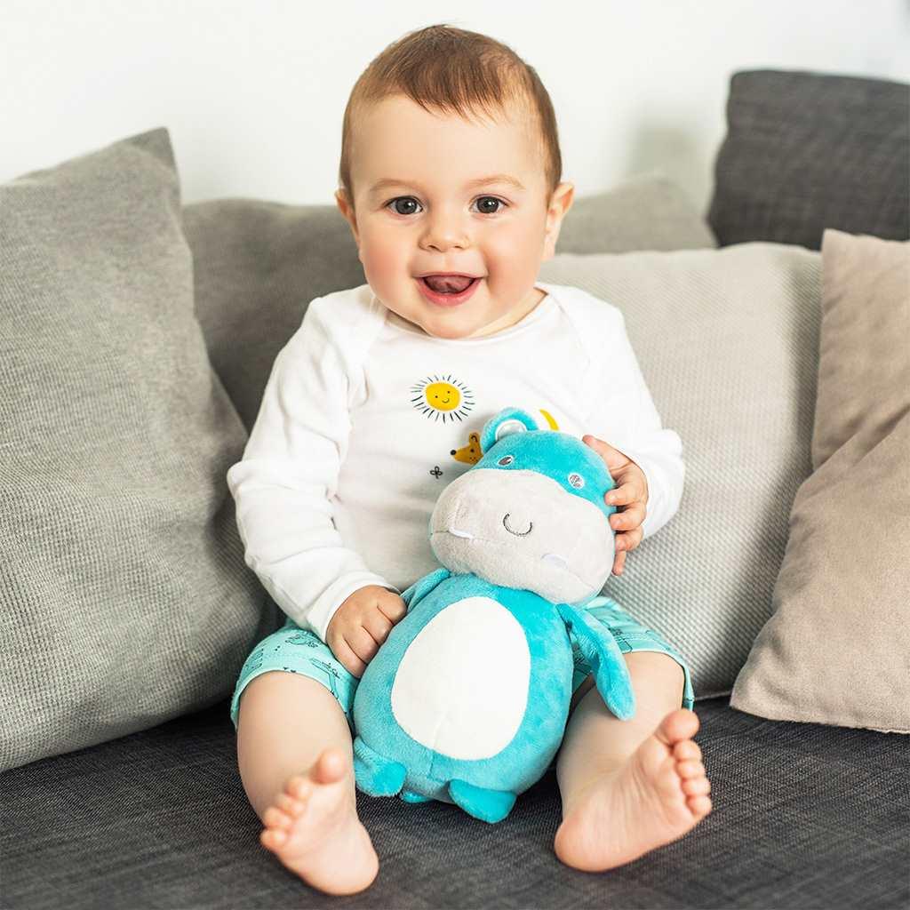 Plyšová hračka Baby Ono Hippo Marcel - modrá