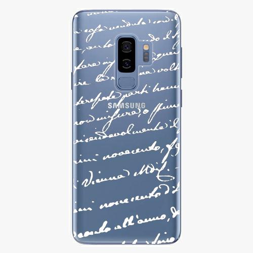 Plastový kryt iSaprio - Handwriting 01 - white - Samsung Galaxy S9 Plus