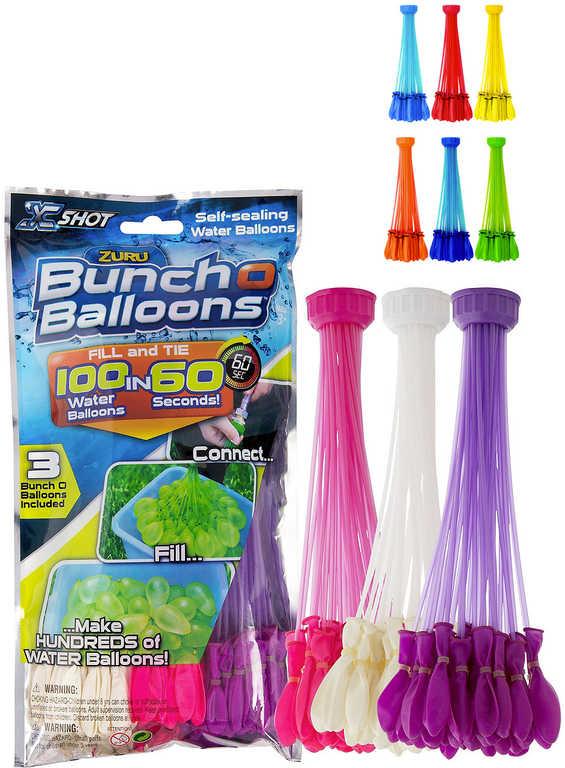ZURU Balónky malé vodní bomby set 100ks 3 svazky různé barvy