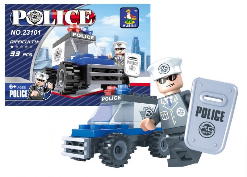 Stavebnice AUSINI policejní auto 33 dílů