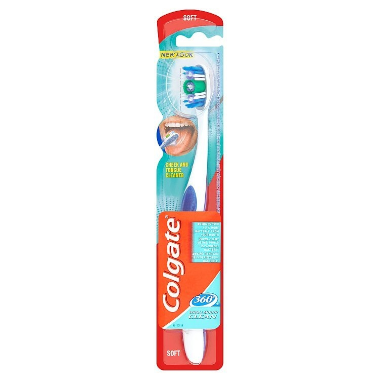 360° měkký zubní kartáček modrý/fialový