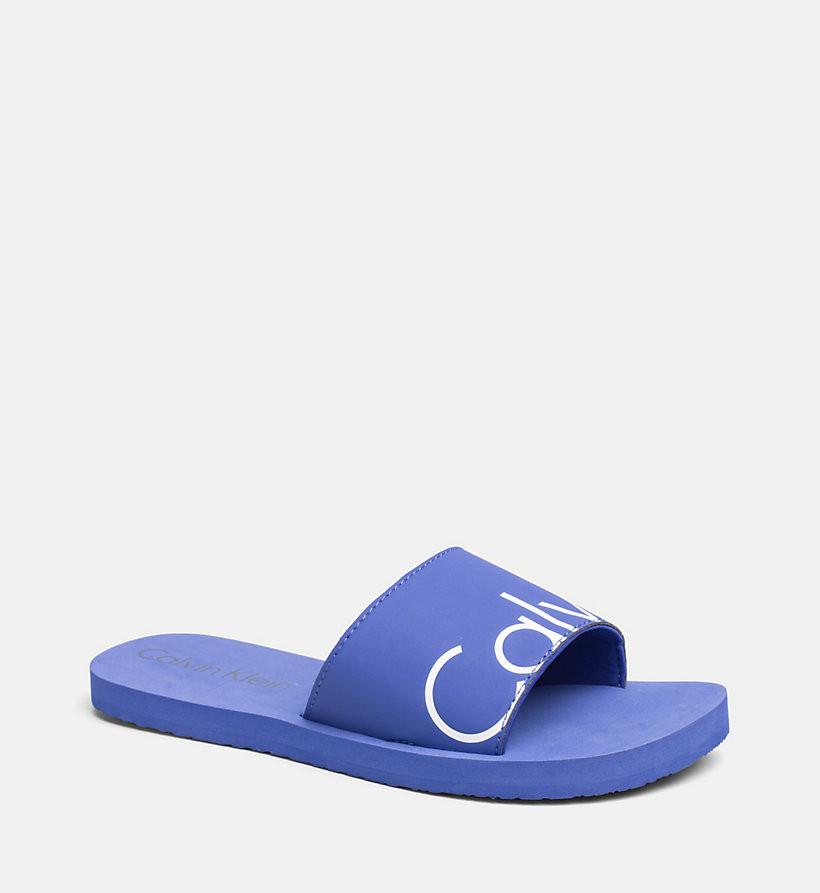 Pantofle KW0KW00398-038 modrá - Calvin Klein - Modrá/39/40