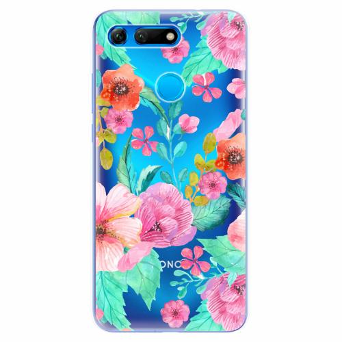 Silikonové pouzdro iSaprio - Flower Pattern 01 - Huawei Honor View 20