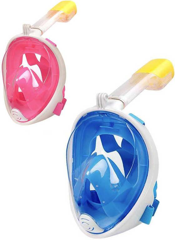 SEDCO Potápěčská maska celoobličejová se šnorchlem do vody různé barvy