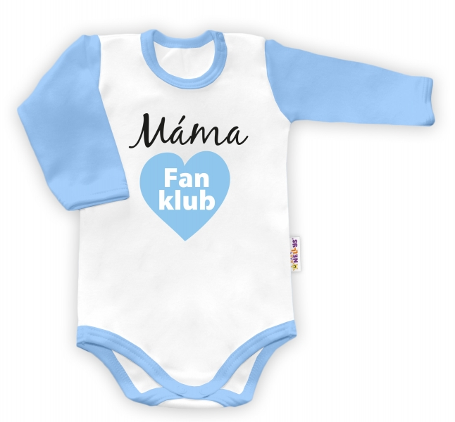 Baby Nellys Body dlouhý rukáv vel. 86, Máma Fan klub - kluk - 86 (12-18m)