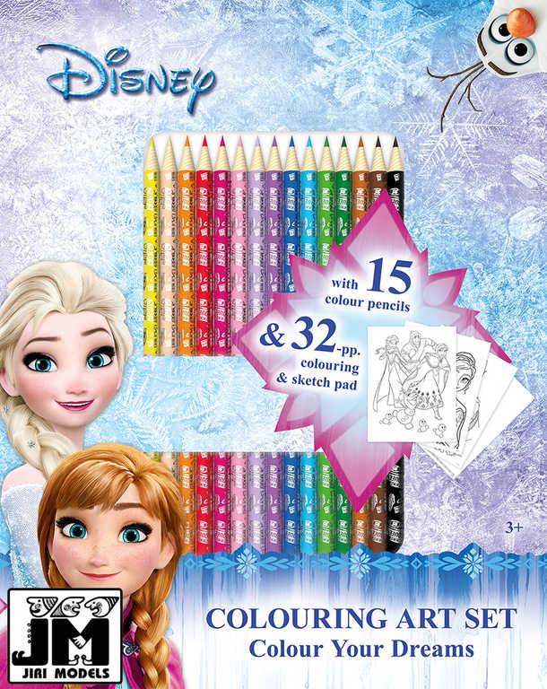 JIRI MODELS Umělěcký set s pastelkami 15ks Frozen (Ledové Království)