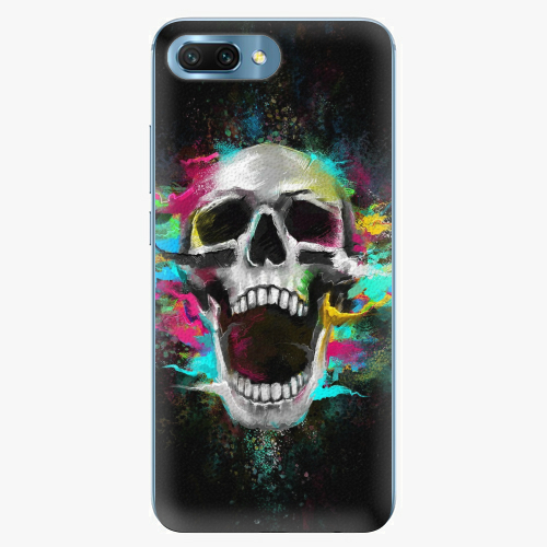 Silikonové pouzdro iSaprio - Skull in Colors - Huawei Honor 10