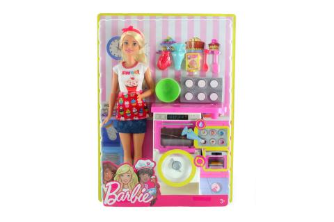 Barbie Vaření a pečení herní set s panenkou FHP57