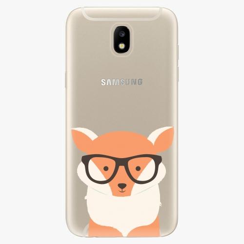 Silikonové pouzdro iSaprio - Orange Fox - Samsung Galaxy J5 2017