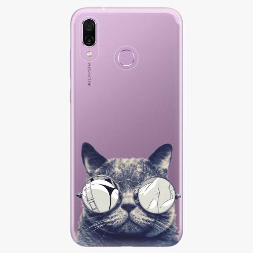 Silikonové pouzdro iSaprio - Crazy Cat 01 - Huawei Honor Play