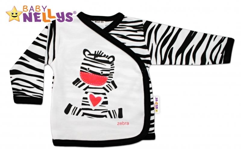 Bavlněná novorozenecká košilka ZEBRA Baby Nellys ® - 68 (4-6m)