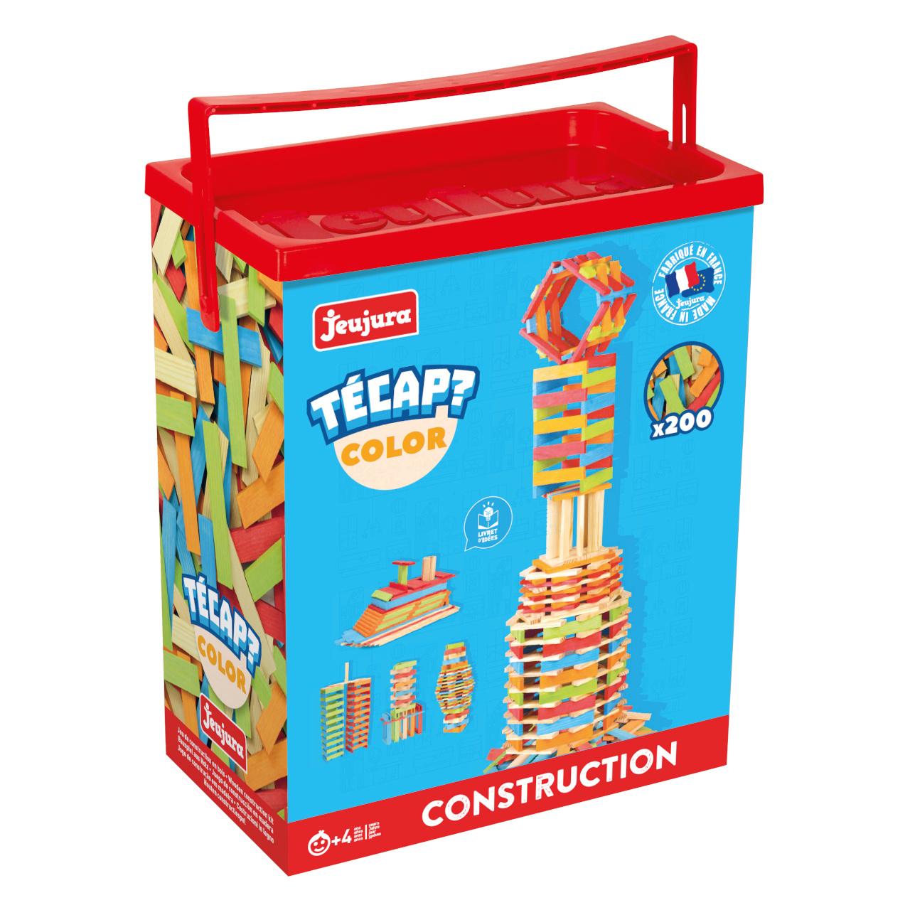 Jeujura Dřevěná stavebnice Técap Color 200 dílů