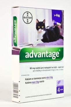 Antiparazitní pipety 4x0,8ml pro kočky nad 4kg
