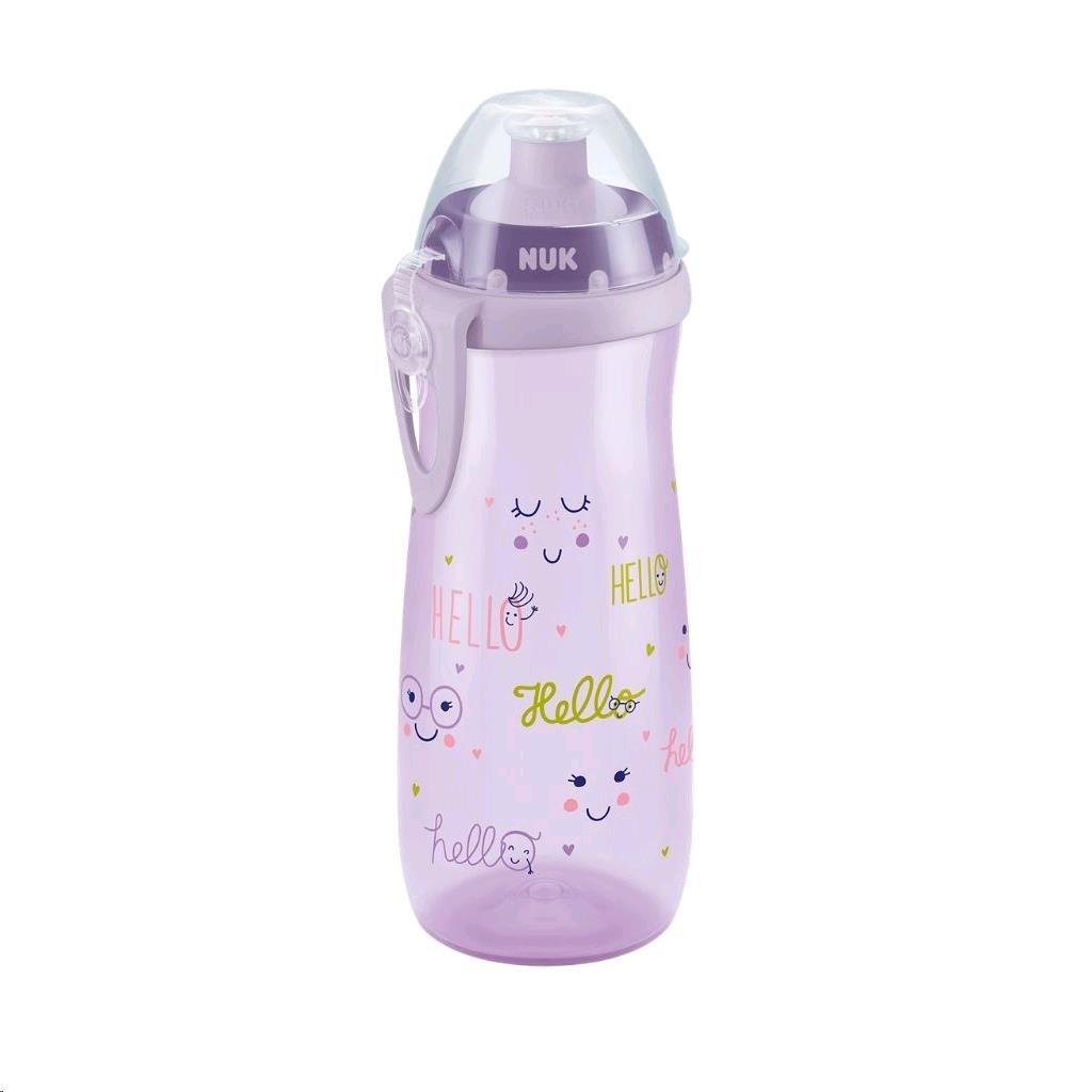 Dětská láhev NUK Sports Cup 450 ml - holka - růžová