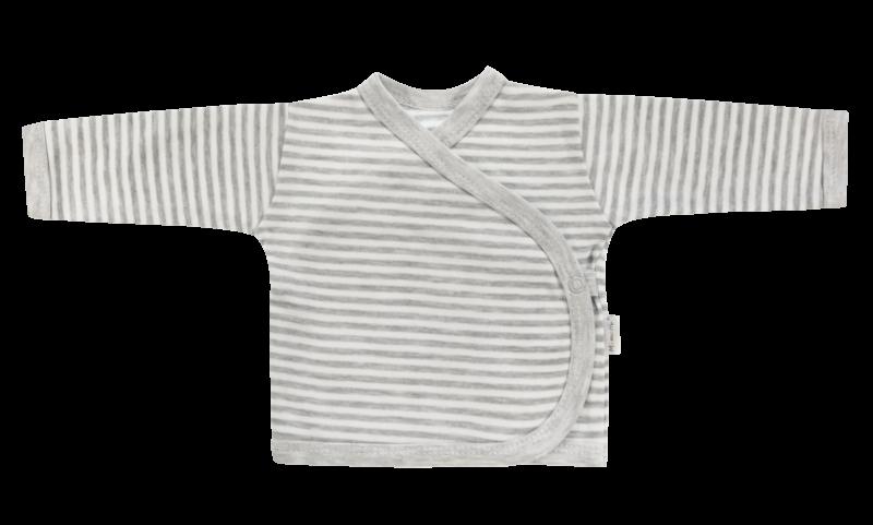 Mamatti Novorozenecká košilka Gentleman - zapínání bokem, šedá, vel. 62 - 62 (2-3m)