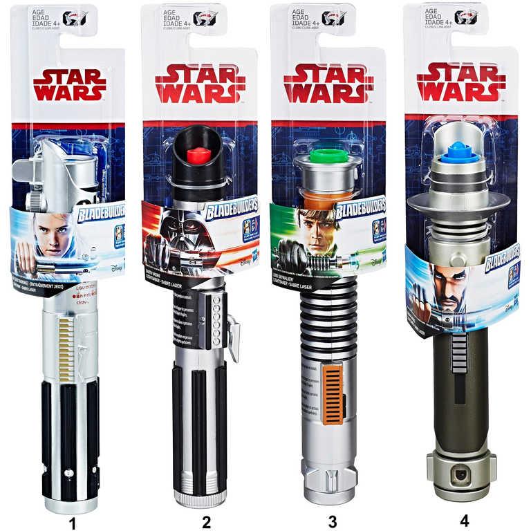 HASBRO Meč Rey Star Wars Epizoda 8 kombinovatelný teleskopický na baterie Světlo