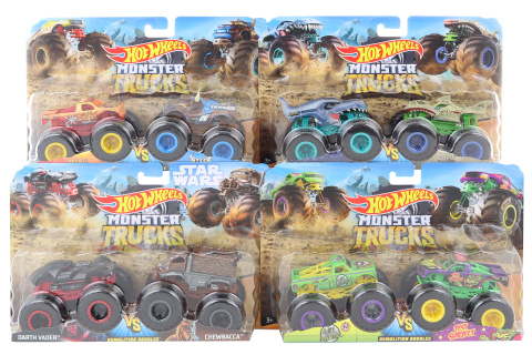 Hot Wheels Monster trucks demoliční duo FYJ64