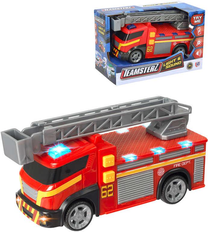 Teamsterz auto červené hasiči 15cm na baterie plast