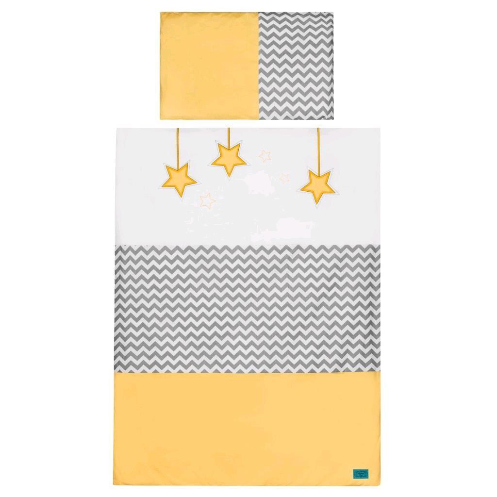 3-dílné ložní povlečení Belisima Hvězdička - 100/135 - žlutá