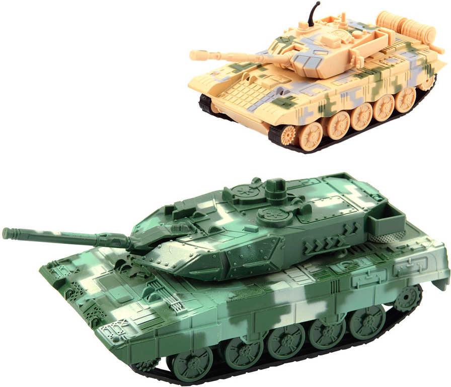 Tank plastový 16cm obrněné vozidlo zpětný chod 2 barvy