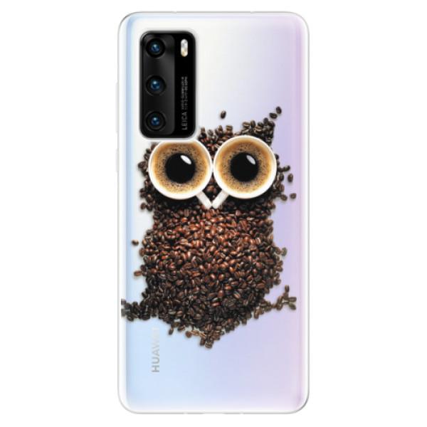 Odolné silikonové pouzdro iSaprio - Owl And Coffee - Huawei P40