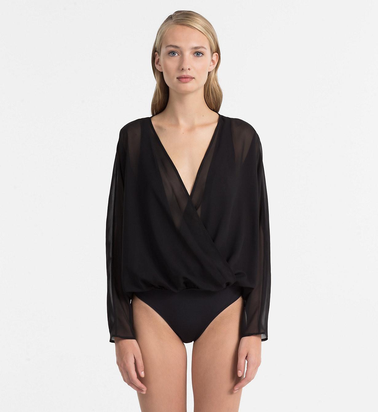 Plážový overál KW0KW00404-001 černá - Calvin Klein - Černá/S