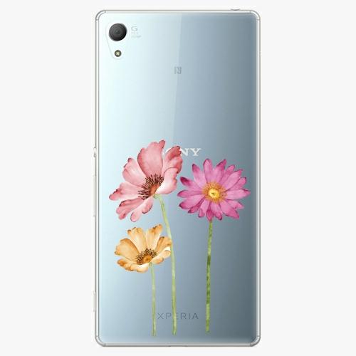 Plastový kryt iSaprio - Three Flowers - Sony Xperia Z3+ / Z4