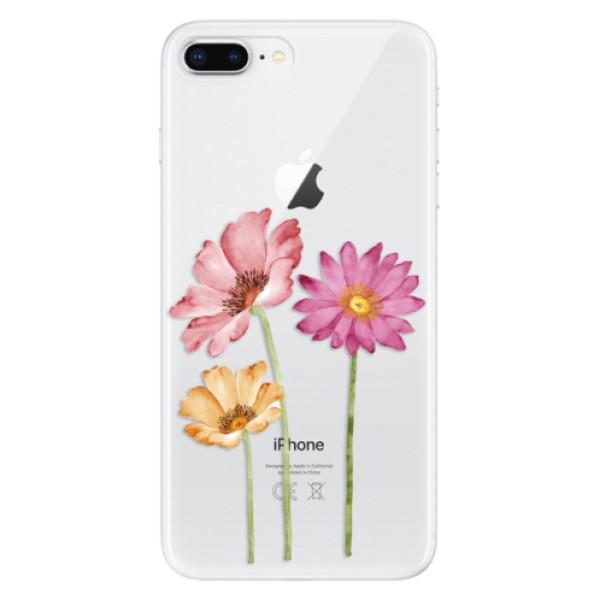 Odolné silikonové pouzdro iSaprio - Three Flowers - iPhone 8 Plus