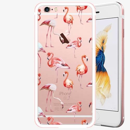 Plastový kryt iSaprio - Flami Pattern 01 - iPhone 6 Plus/6S Plus - Rose Gold