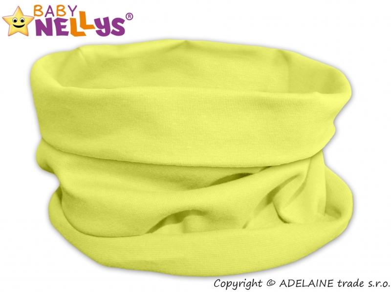 Nákrčník/komínek Baby Nellys ® - lemon - 48/50 čepičky obvod