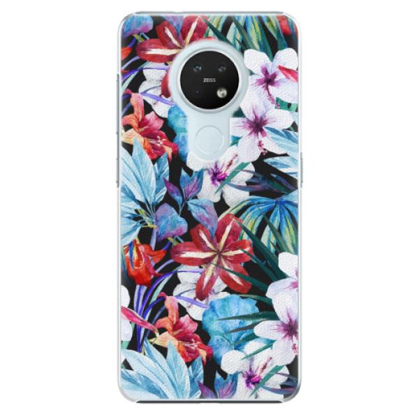 Plastové pouzdro iSaprio - Tropical Flowers 05 - Nokia 7.2