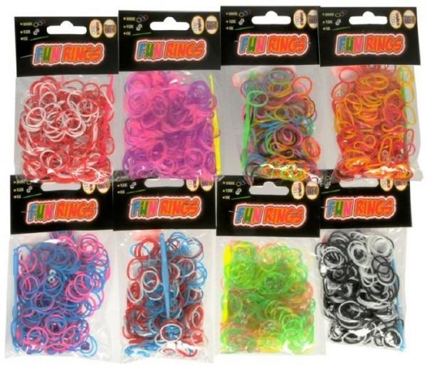 Udělej si svůj náramek - gumičky na pletení gumové asst mix barev 300ks v sáčku