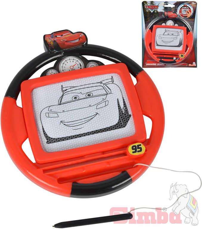 SIMBA Tabulka magická kreslicí volant 18 cm Cars 3 (Auta) plast