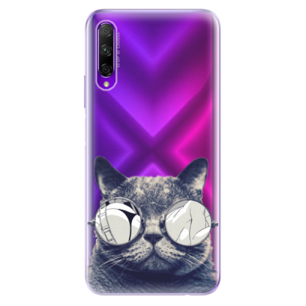 Odolné silikonové pouzdro iSaprio - Crazy Cat 01 - Honor 9X Pro