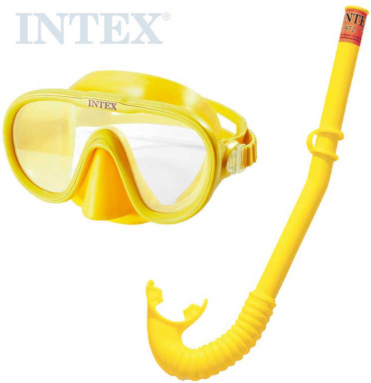 INTEX Adventurer potápěčský plavecký set do vody brýle + šnorchl žlutý 55642
