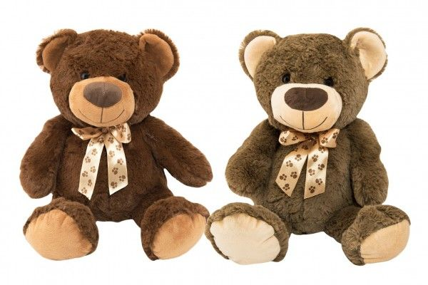 Medvěd s mašlí plyš 50 cm 2 barvy 0+
