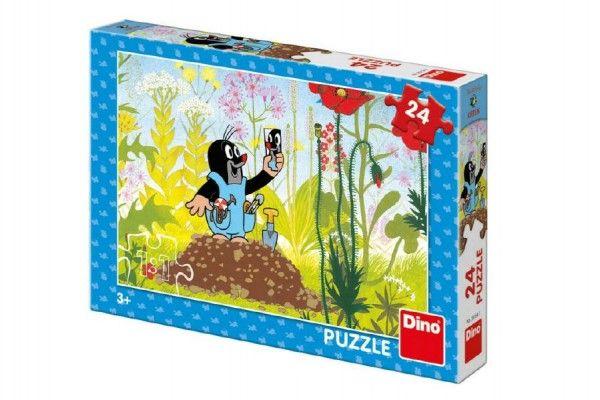 Puzzle Krtek v kalhotkách 24 dílků 26x18cm v krabici 27x19x4cm
