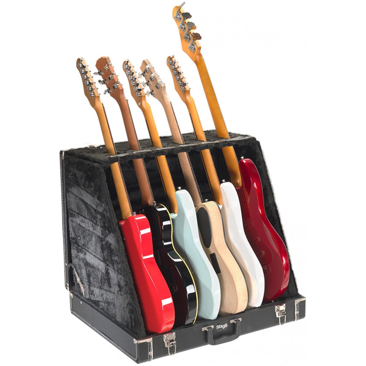 Stagg GDC-6, kufrový stojan pro 6 elektrických kytar