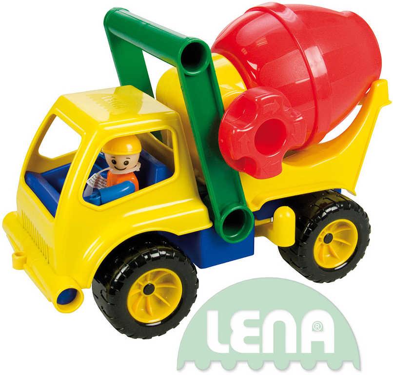 LENA Auto plastové aktivní domíchávač 28cm set s panáčkem 4153
