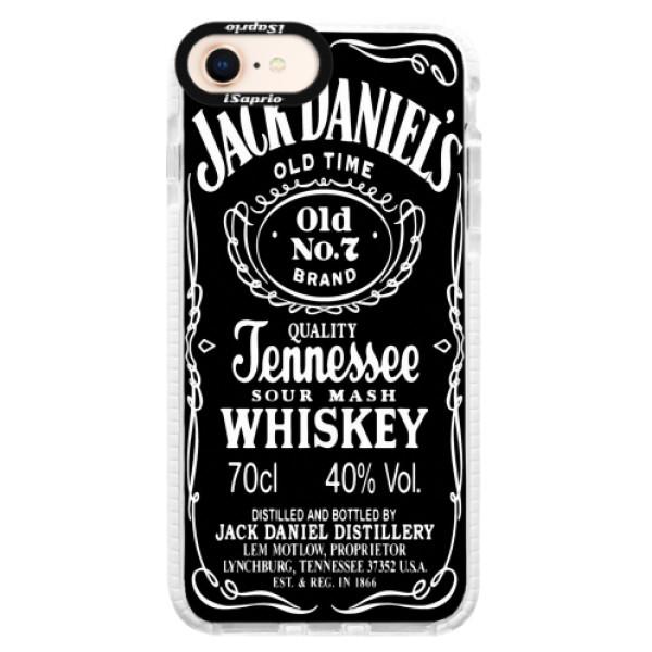 Silikonové pouzdro Bumper iSaprio - Jack Daniels - iPhone 8