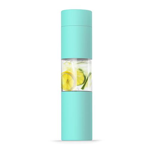 Elegantní láhev U SEE 460ml mátová nerezová s infusérem