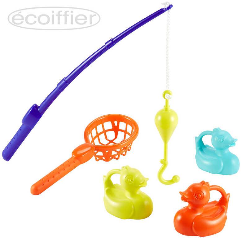 ECOIFFIER Baby hra dětský rybolov set 3 kachničky s rybářským prutem a podběrákem