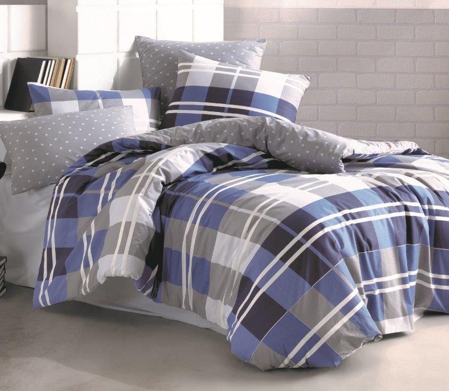Povlečení francouzské bavlna 200x200,70x90 Grand DUO, Výběr zapínání: zipový uzávěr