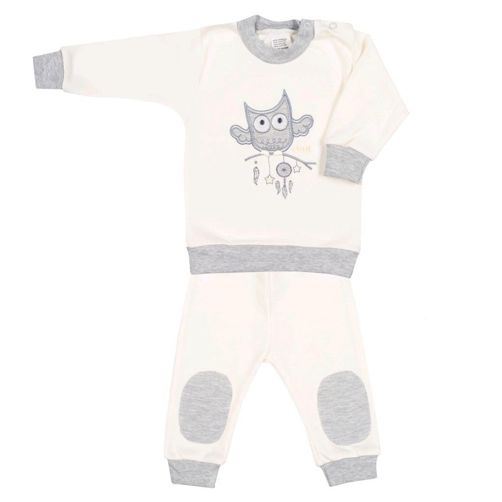2-dílná kojenecká souprava New Baby Owl - béžová/68 (4-6m)