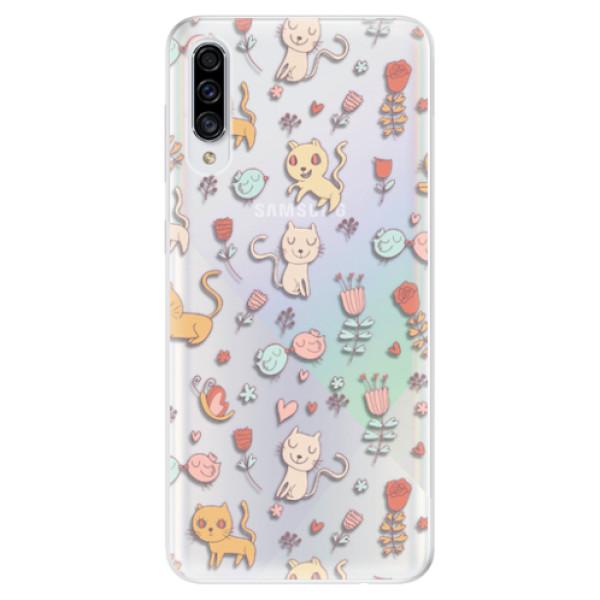 Odolné silikonové pouzdro iSaprio - Cat pattern 02 - Samsung Galaxy A30s